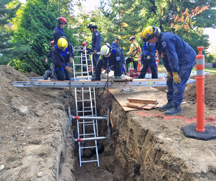 Snohomish County Firefighters Train For Trench Collapse