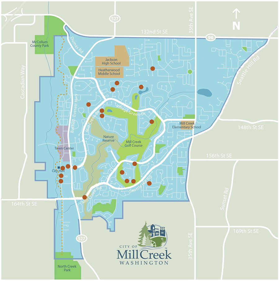 Twenty sites in Mill Creek will undergo surface water pipe repairs or replacement in summer 2019. The city anticipates that most repairs will begin in July when surface water flows are lowest.
