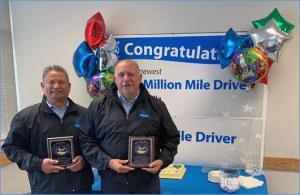 Two Community Transit drivers were honored this week with the agency's prestigious Million Mile Award for safe driving. The drivers qualified for the distinction by meeting strict National Safety Council guidelines for driving the equivalent of one million and two million miles without a preventable accident.