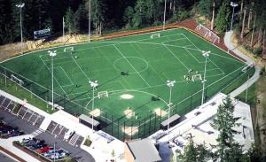 Mill Creek Sports Park aerial view. Photo courtesy of HBB Landscape Architecture.
