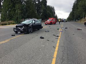 A serious motorcycle accident on 132nd Street SE north of Mill Creek closed all eastbound lanes and one west bound lane on Friday afternoon, August 9, 2019. Drivers are asked to avoid the area for the afternoon/evening commute.