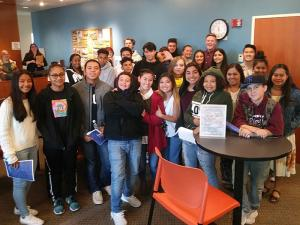 In October, Cascade High School DECA students visited WorkSource Everett to learn about career possibilities in the region and about that organization's business model. Photo courtesy of Everett Public Schools.