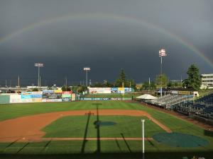 Everett Memorial Stadium baseball field. Photo courtesy of Everett Memorial Stadium Facebook page.