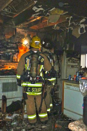 No one was injured in the house fire that started in the kitchen. Photo courtesy of Fire District 7.