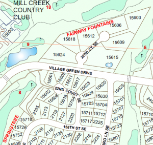 Map showing two 22nd Court SE streets. Image courtesy of the City of Mil Creek.