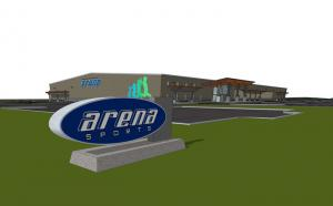 Preliminary Mill Creek Arena Sports design. Image courtesy of MG2.