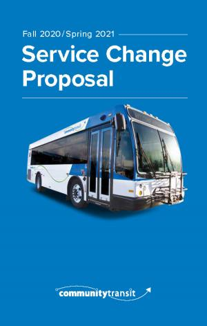 Community Transit seeks public comments on proposed bus service changes to take effect this fall and in spring 2021. The changes will increase weekday and weekend trips, the frequency of service, expand coverage, and create new service that improves local bus connections in south Snohomish County.