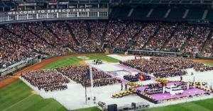 The 2017 UW Bothell Commencement in Safeco Field. Photo courtesy of University of Washington.
