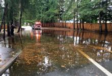 Significant flooding closed 136th Street SE between Bothell-Everett Highway (SR 527) and Jackson High School in Mill Creek on Wednesday morning, November 15, 2017.   People are advised to avoid the area.