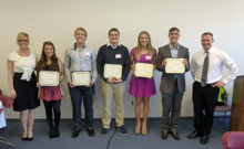 The Mill Creek Business Association awarded college scholarships worth $2,000 each to five local high school students at their May 20, 2014 monthly lunch meeting.