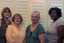 Mill Creek Women's Club Executive Board: (From left to right): Nancy Knox, President; Patricia Huckell, Recording Secretary; Marge Rhodes, Vice-President; and Pamela LeSesne, Treasurer. Photo courtesy of Mill Creek Women's Club.