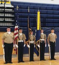 NJROTC Color Guard at Everett High School. Photo courtesy of Everett School District.