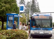 Community Transit 105 bus. Photo courtesy of Community Transit.