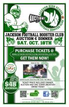 Tickets are officially on sale for the 2nd Annual Jackson High School Football Auction & Dinner.