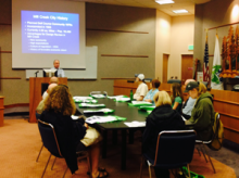 Community Development Director Tom Rogers and his staff conducted an afternoon design standards workshop in Mill Creek as part of the Planning Association of Washington's 2014 Conference on Wednesday, April 9th.