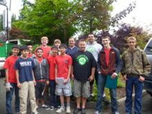 Boy Scout Troop 221 and 1 Green Planet jointly conducted a very successful recycling event in Mill Creek on Saturday, July 28th. Eagle Scout candidate, David Gyuro, organized the event as his Eagle Scout project.