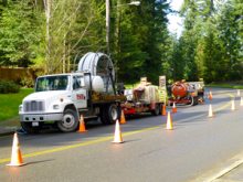 A contractor for Comcast, Professional Horizontal Drilling, LLC, started major utility work in Mill Creek on March 13, 2014. Local residents can expect automobile and pedestrian traffic delays along Village Green Drive as new underground cables are installed.
