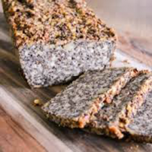 A photo of Daryl's Super Seed Bread which is gluten free, vegan, delicious, and super satisfying.