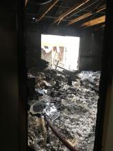 Interior fire damage. Photo courtesy of Fire District 7.