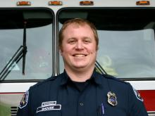 Firefighter/Paramedic/Fire Commissioner Erik Shouse. Photo courtesy of Fire District 7.