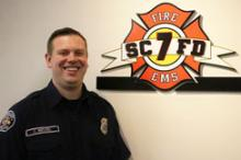 Mill Creek firefighter/paramedic Corey Wenzel was recognized during Patient Experience Week for high customer satisfaction.