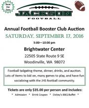 Jackson High School Booster Club Auction Poster. Image courtesy of Jackson High School Booster Club.