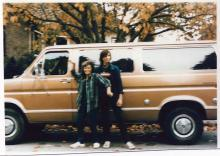 Tanya Van Cuylenborg and Jay Cook with the van they drove to the United States, a bronze 1977 Ford Club wagon. Photo courtesy of Snohomish County Sheriff's Office.