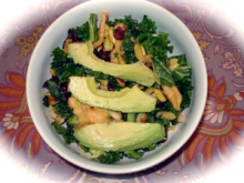 This recipe is my attempt to create a kale salad with all my favorite tastes from the multitude of summertime kale salads I have tried.