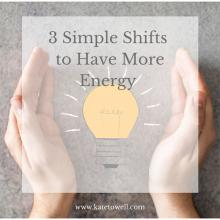 Many of you have been telling me you are feeling deep fatigue at the end of the day and desire more energy. I know when I am undernourished and overworked, I feel that way too. Here are some simple things you can do to boost your energy, naturally.