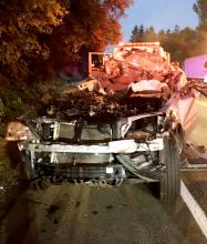 Front of Kia Sorrento after crash. Photo courtesy of Snohomish County Sheriff's Office.
