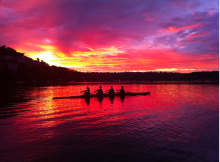 "As the largest lake in Snohomish County, Lake Stevens has come to be known as ""Snohomish County's place to Row."" Image courtesy of Lake Stevens Rowing Club."