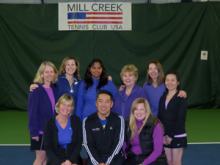 The Mill Creek Tennis Club's team won the 2012-2013 Emerald Cup championship.