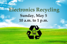 The City of Mill Creek, in partnership with the Mill Creek Kiwanis Club, will host an electronics and small appliances recycling event on Sunday, May 5, 2019, from 10:00 am to 1:00 pm in the Mill Creek City Hall North parking lot.