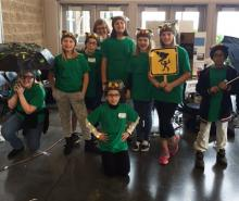 Mill Creek Elementary School's robotics team posing proudly. Photo courtesy of Everett Public Schools.