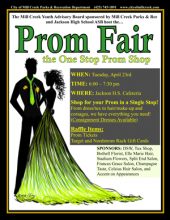 The Mill Creek Youth Advisory Board members, sponsored by Mill Creek Parks & Recreation, and the Jackson High School ASB are hosting the first Community Prom Fair for local high school students.