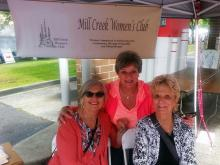 Women's Club members at the 2016 Mill Creek Festival booth. Photo courtesy of Mill Creek Women's Club.