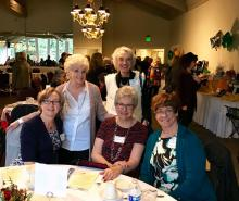 L to R:  Glenda Tecklenburg, Sue Ramsey, (behind) Mike Hooks, (front) Debby Smith, Marlene Kurpiewski. Photo credit: Kathleen Corbiere.