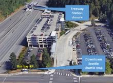 Community Transit and Sound Transit announced plans for closure of the freeway station at the Mountlake Terrace Transit Center, starting on July 6, 2020, through late November. The nearly five-month closure is needed to facilitate construction of the Link light rail extension north to Lynnwood.