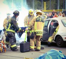 Motor vehicle collisions are the leading cause of death among young people ages 16 to 25. That is why, intentionally coinciding with prom, seniors at North Creek High School learned firsthand about the consequences of driving under the influence during a mock DUI crash assembly on June 6, 2019.