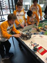 "North Middle School's ""N.E.R.D.S. SaBOTage"" robotics team. Photo courtesy of Everett Public Schools."