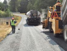Each year, Snohomish County Public Works evaluates its roads to develop a multi-year plan to preserve and maintain county roads in the most cost-effective way. This year, the county will pave approximately 8.8 miles of road with asphalt. It will also pre-level and/or chip seal approximately 38 miles of road as part of its Chip Seal Program.