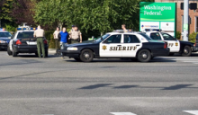 The pursuit of a stolen vehicle by Snohomish County Sheriff's deputies has ended with two men in custody, two damaged patrol vehicles and one slightly injured deputy.