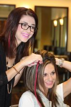 Elle Marie Hair Studio enters their eighth year raising awareness and supporting those who have been affected by breast cancer with their $10 pink hair extensions fundraiser.