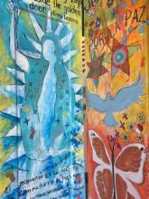 "One of the ""Border Doors"" on exhibit at Cascadia College. Image courtesy of Cascadia College."
