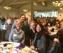"YWCA staff enjoying lunch at the ""Thanks for Giving"" auction. Photo courtesy of Mill Creek Women's Club."