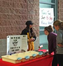 "Concerned about the Snohomish County vaping epidemic among young people, Jackson High School Freshman Katerina Vaagen began a ""No Vaping"" pledge drive at the school on October 22, 2019, after Principal Dave Peters wholeheartedly approved the project."