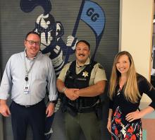 Snohomish County Deputy Sheriff McCulloch is now on duty at Gateway Middle School full time as a result of the school district's April 2019 interlocal agreement with Snohomish County.
